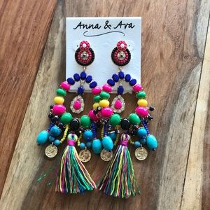 Anna & Ava colorful statement earrings